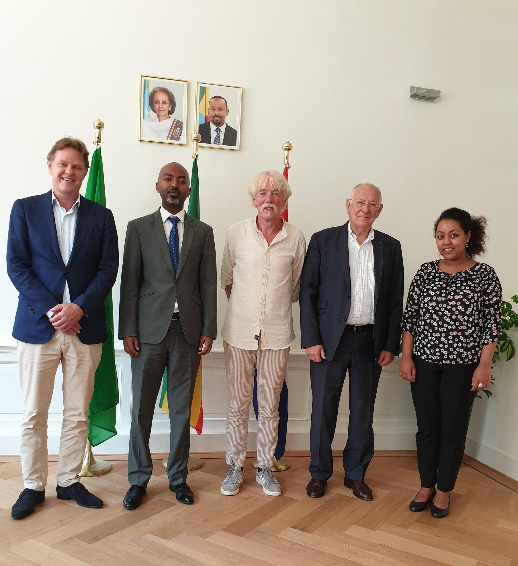 Gesprek met de Ethiopische ambassadeur en minister